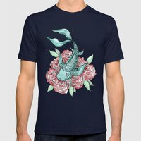 Koi Fish Mens Fitted Tee Navy SMALL