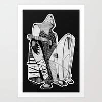 Wait, it's gonna be interesting (touch the ground) - Emilie Record Art Print