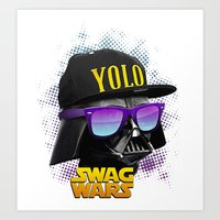 Darth Vader Swag Art Print