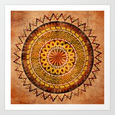 Four Dragons Mandala Art Print