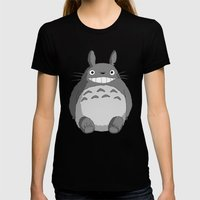 I Love Totoro Womens Fitted Tee Black SMALL