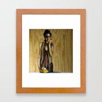 Listening Framed Art Print
