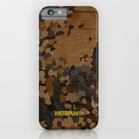 iPhone & iPod Case featuring Modern Woodgrain Camouflage / Flecktarn Print by MSTRPLN®