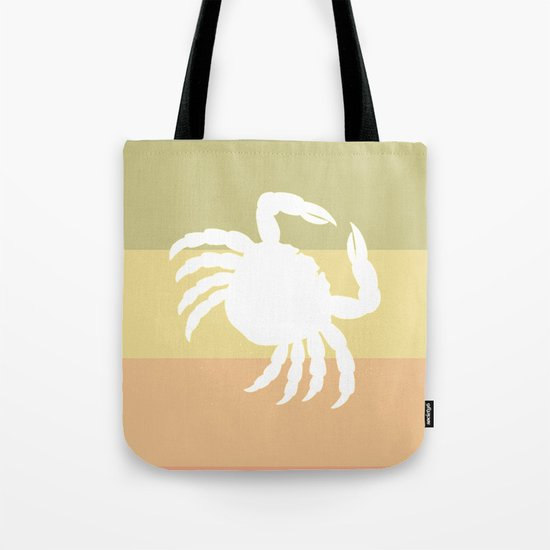 Out At Sea Series - Sideways and Crabby Tote Bag