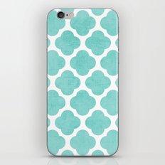 teal clover iPhone & iPod Skin