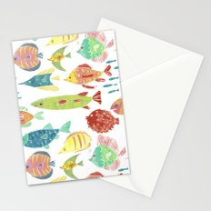 Little flowers and friends Stationery Cards