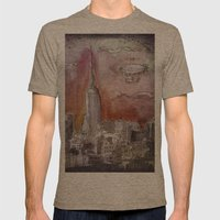 Boat over the City Mens Fitted Tee Tri-Coffee SMALL