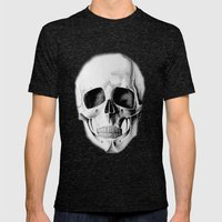 le crâne Mens Fitted Tee Tri-Black SMALL