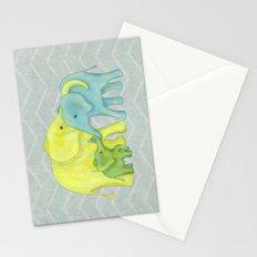 Elephant Family of Three Stationery Cards