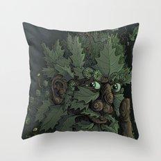 Green Man Throw Pillow