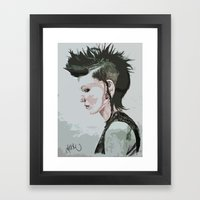 The Girl With The Dragon… Framed Art Print