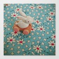 Bunny Blues Canvas Print