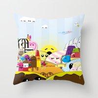 SF Sweet World  Throw Pillow