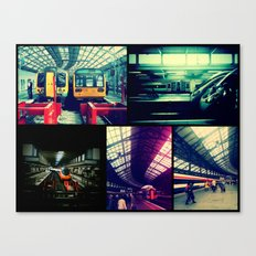 Trains Collage Canvas Print