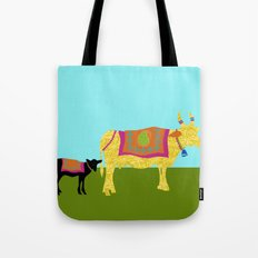 Streets of India- Cows Tote Bag