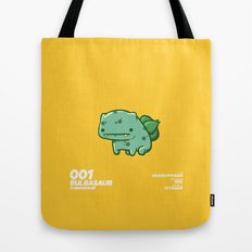 001 Bulbasaur Tote Bag