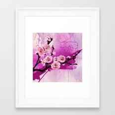 fleur de pommier Framed Art Print