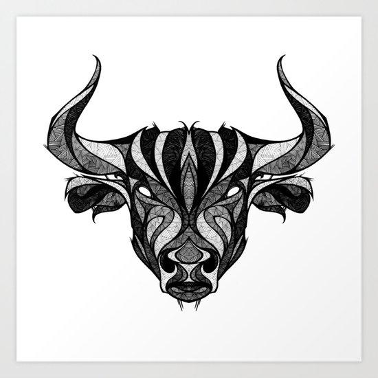 Signs Of The Zodiac Taurus Art Print By Andreas Preis