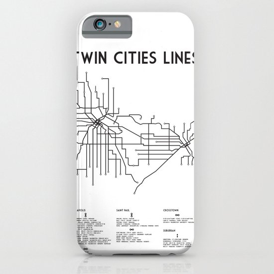 Twin Cities Lines Map iPhone & iPod Case