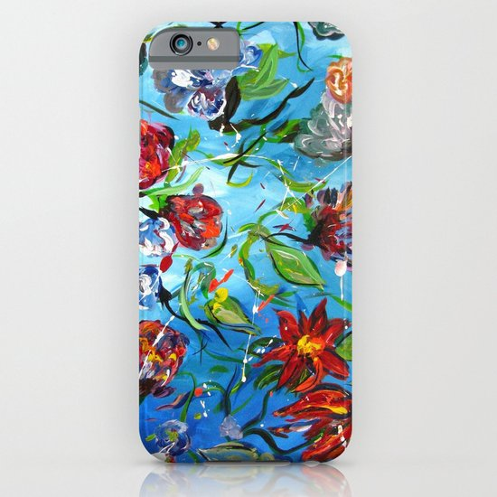 Blue Flower Swirl iPhone & iPod Case