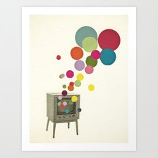 Colour Television Art Print