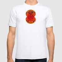 Red Fans And Faces Mens Fitted Tee Ash Grey SMALL