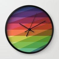Fig. 040 Rainbow Stripes Wall Clock