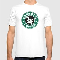 Pokemon Coffee Mens Fitted Tee White SMALL