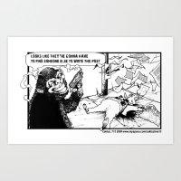 NY Post Reverse Political Comic Art Print