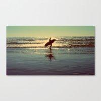 Evening Surf Canvas Print