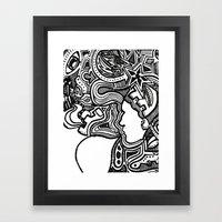 Techno Framed Art Print