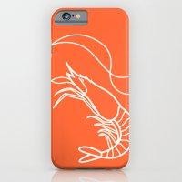 iPhone & iPod Case featuring Orange Shrimp by metroymediodesigns