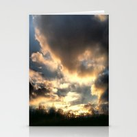 Clouds on Fire Stationery Cards