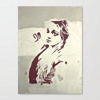 90's girl Canvas Print