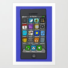 iPhone by Jenny Art Print