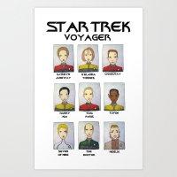 STAR TREK VOYAGER  Art Print