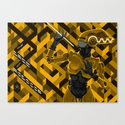 The Bride of Robocop (gilded chrome version) Canvas Print