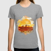 Sunset Adaption | Peter … Womens Fitted Tee Tri-Grey SMALL