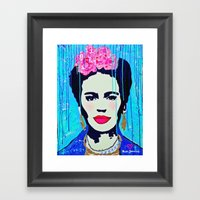 Frida Kahlo,  Happy Frid… Framed Art Print