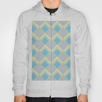 Diamond Art Deco; - Blue Hoody