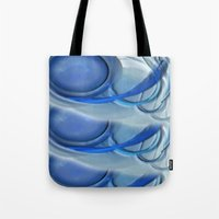 Blue Spiral Tote Bag