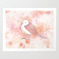 Pink Tweetie Bird Art Print