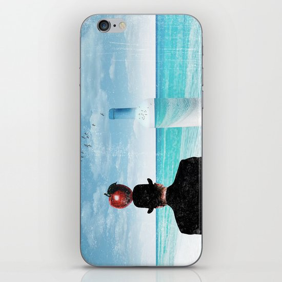 René at the beach iPhone & iPod Skin