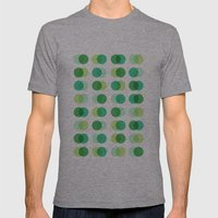 Circles Mens Fitted Tee Athletic Grey SMALL