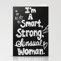 Smart, Strong, Sensual Woman - Tina Belcher Stationery Cards