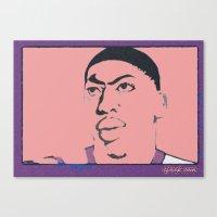 Anthony Davis Nike Swoosh Unibrow Red Canvas Print