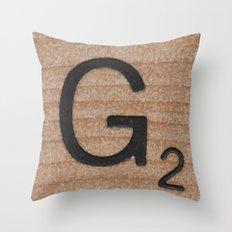 Tile G Throw Pillow