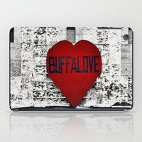 Buffalo Love black white and red iPad Case