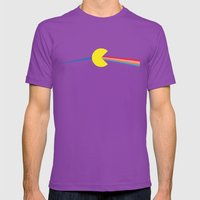 Pac Man Side of the Moon Mens Fitted Tee Ultraviolet SMALL