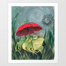 Rainy day Prince Art Print